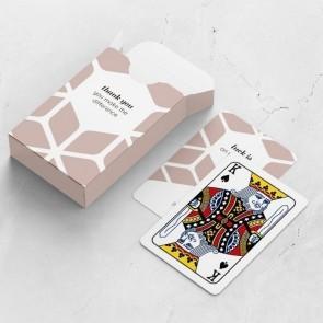 gepersonaliseerde speelkaarten zakelijk the space between kaarten en doosje