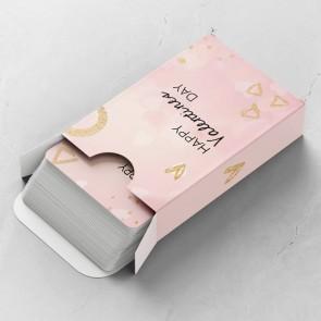 Pink Valentine Gepersonaliseerde Speelkaarten