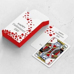 gepersonaliseerde speelkaarten zakelijk valentine love kaarten en doosje